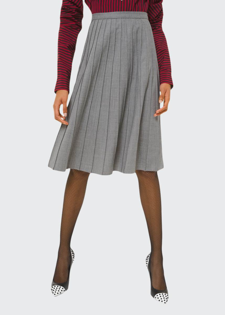 Michael Kors Collection Pleated Flare Skirt