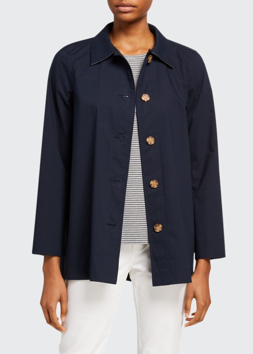 Lafayette 148 New York Nidia Travelers Cloth Button-Front Jacket