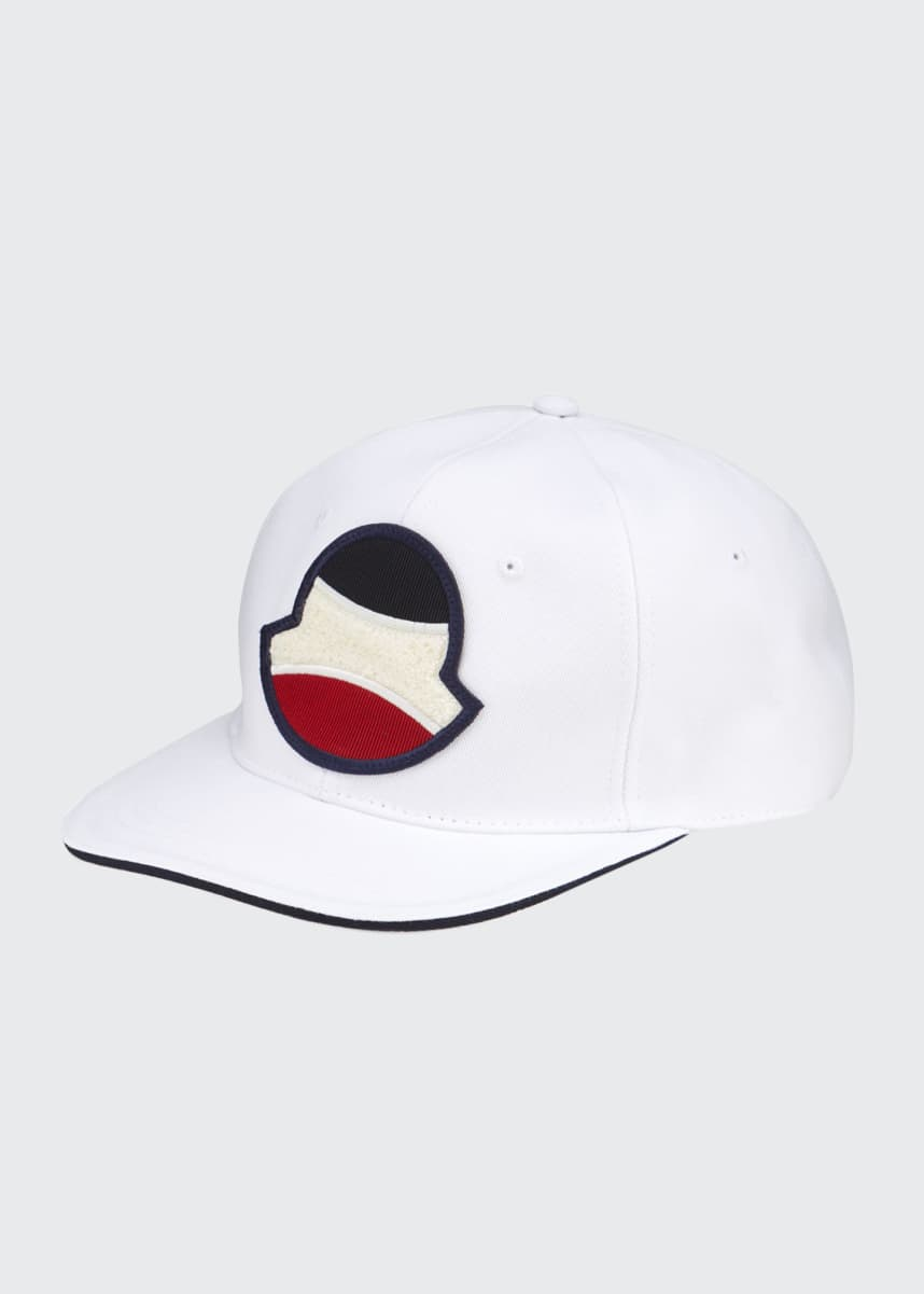 Moncler Men's Logo Applique Baseball Cap
