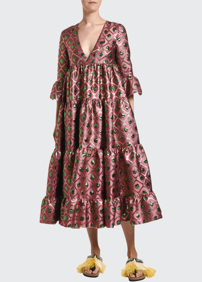 Double J Jennifer Jane Brocade Dress