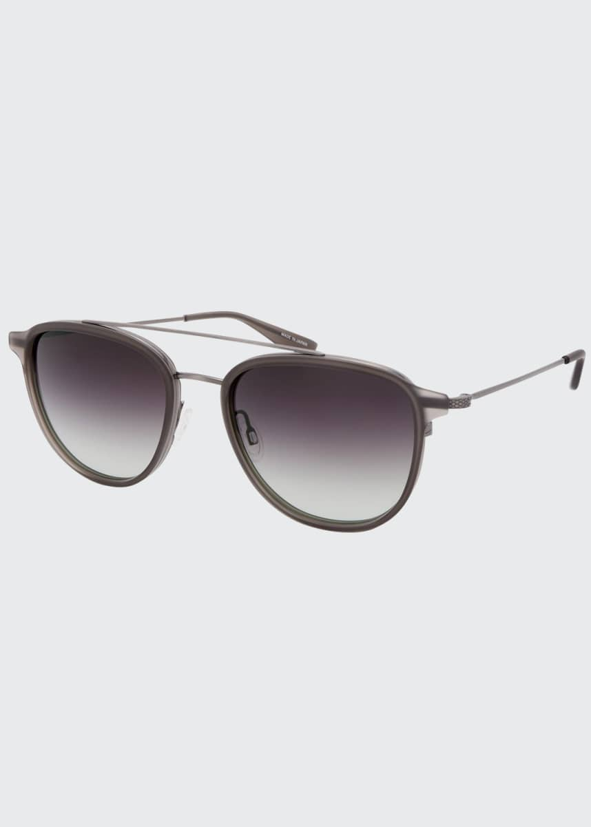 Barton Perreira Men's Courtier Titanium Aviator Gradient Sunglasses