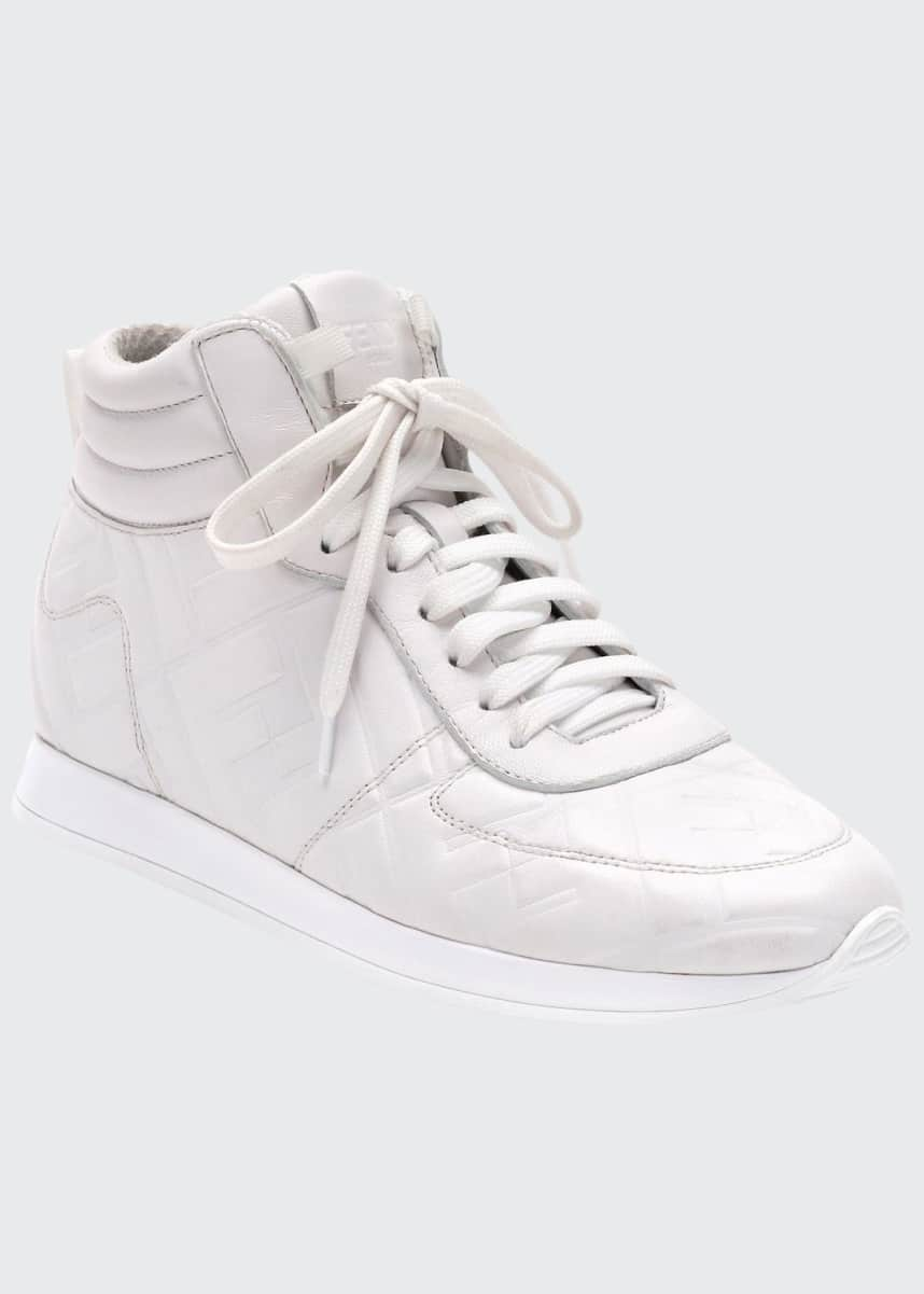 Fendi FFreedom High-Top Leather Sneakers