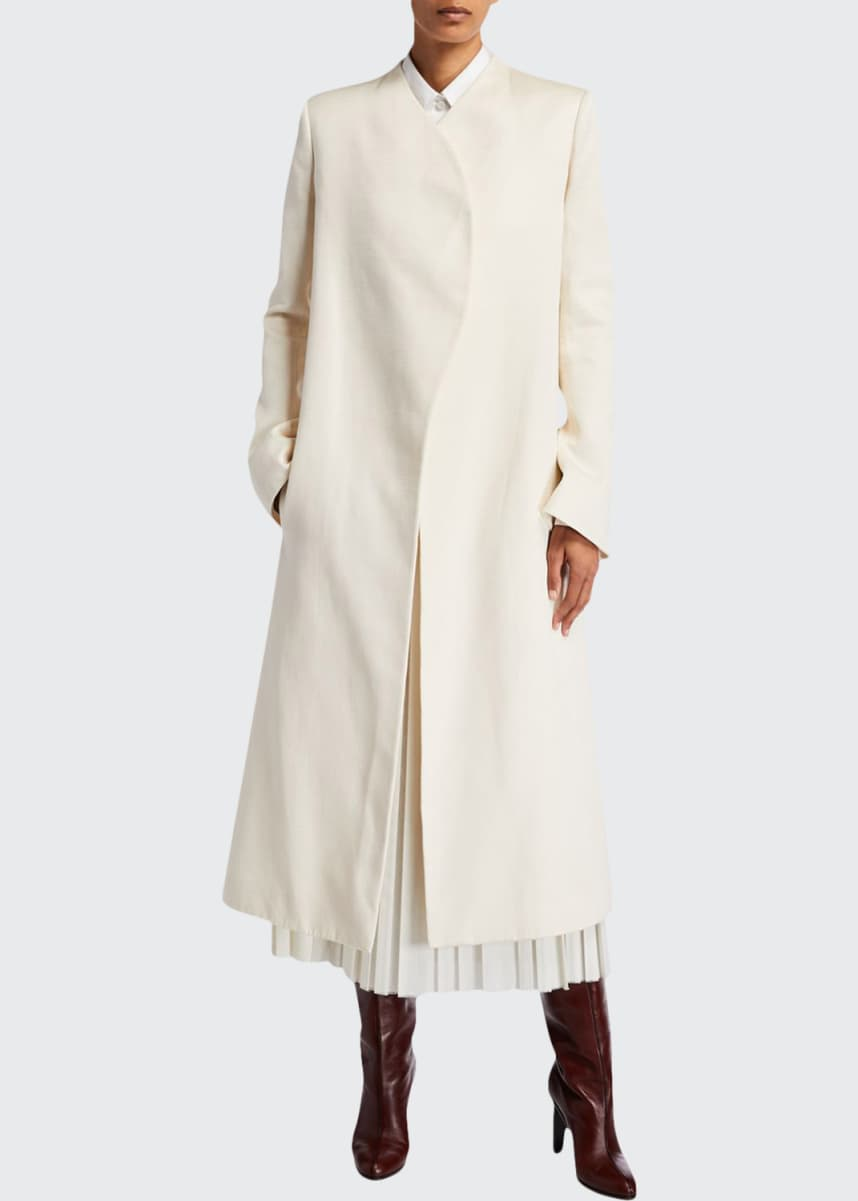 THE ROW Marion Wrapped Cotton Coat