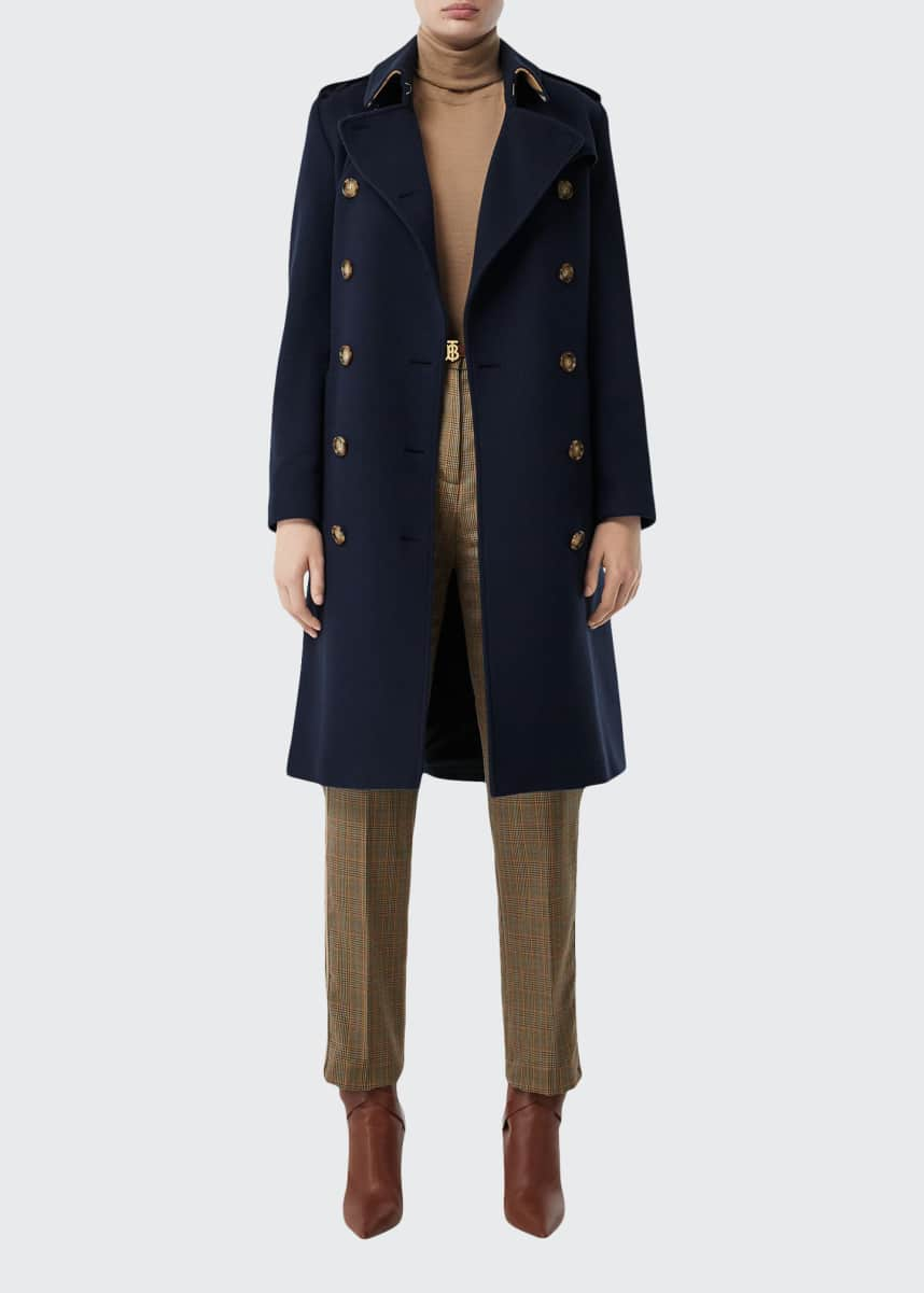 Burberry Cashmere Double-Breasted Coat