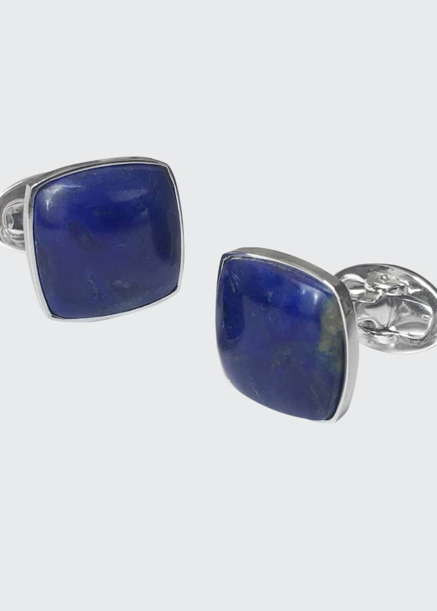Jan Leslie Men's Square Lapis Lazuli Cufflinks