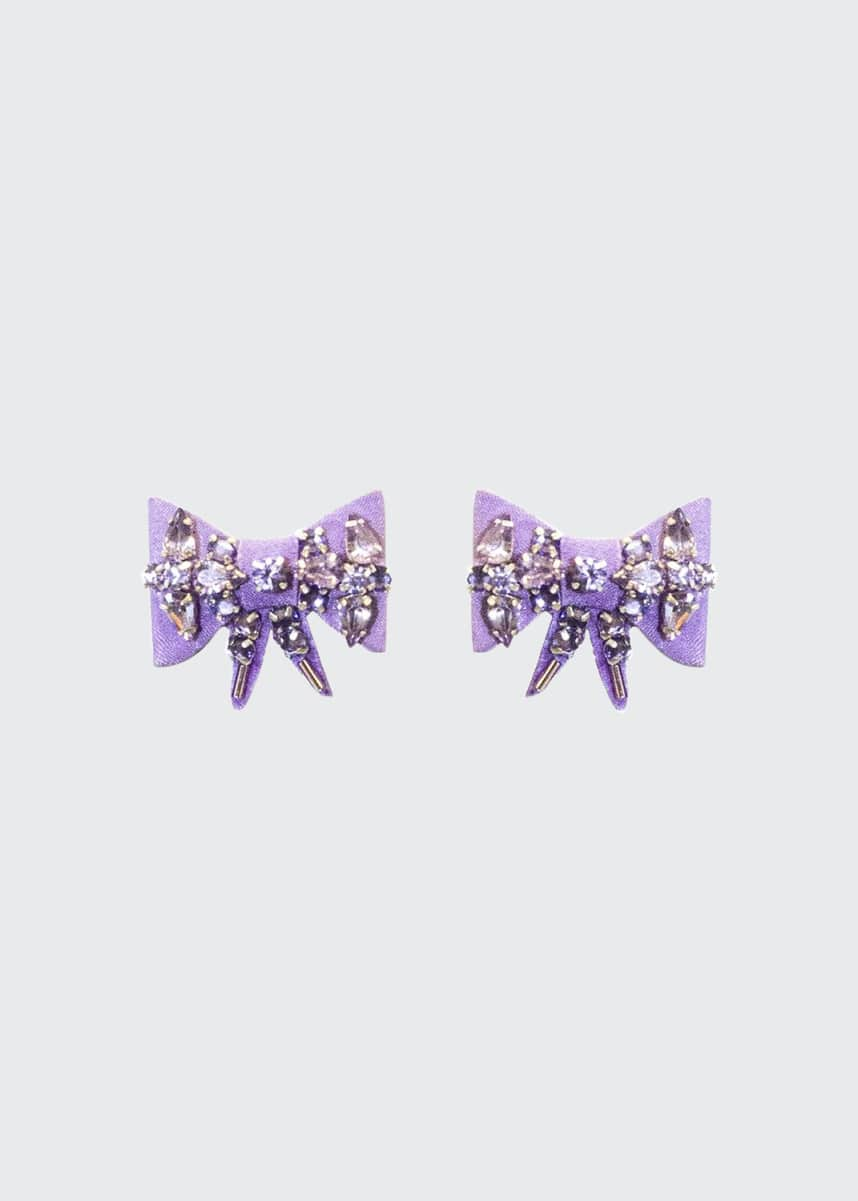 Mignonne Gavigan Lexy Velvet Bow Stud Earrings