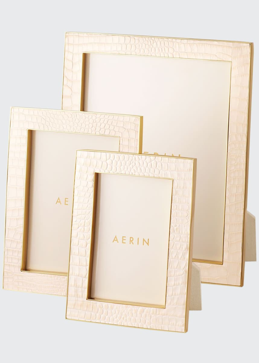 "AERIN Classic Croc Leather Frame, 5"" x 7"""