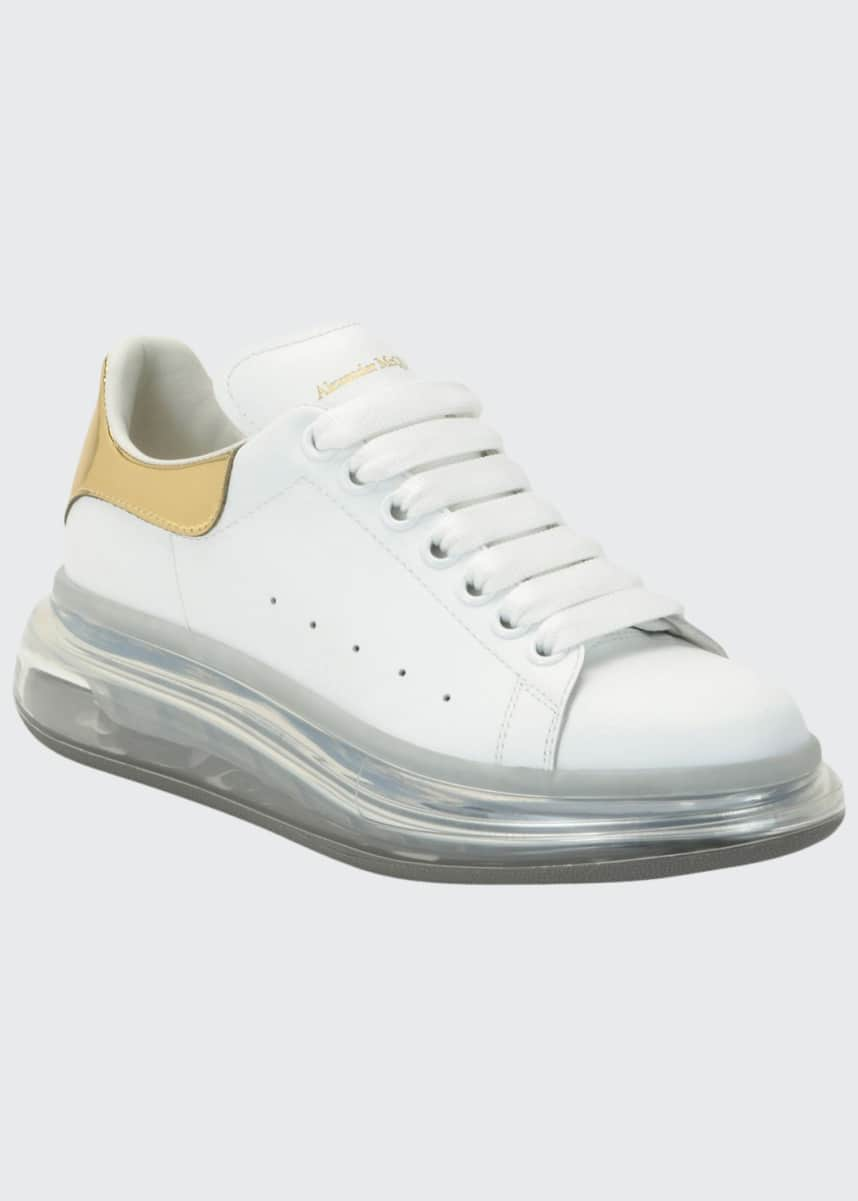 Alexander McQueen Metallic Lace-Up Sneakers