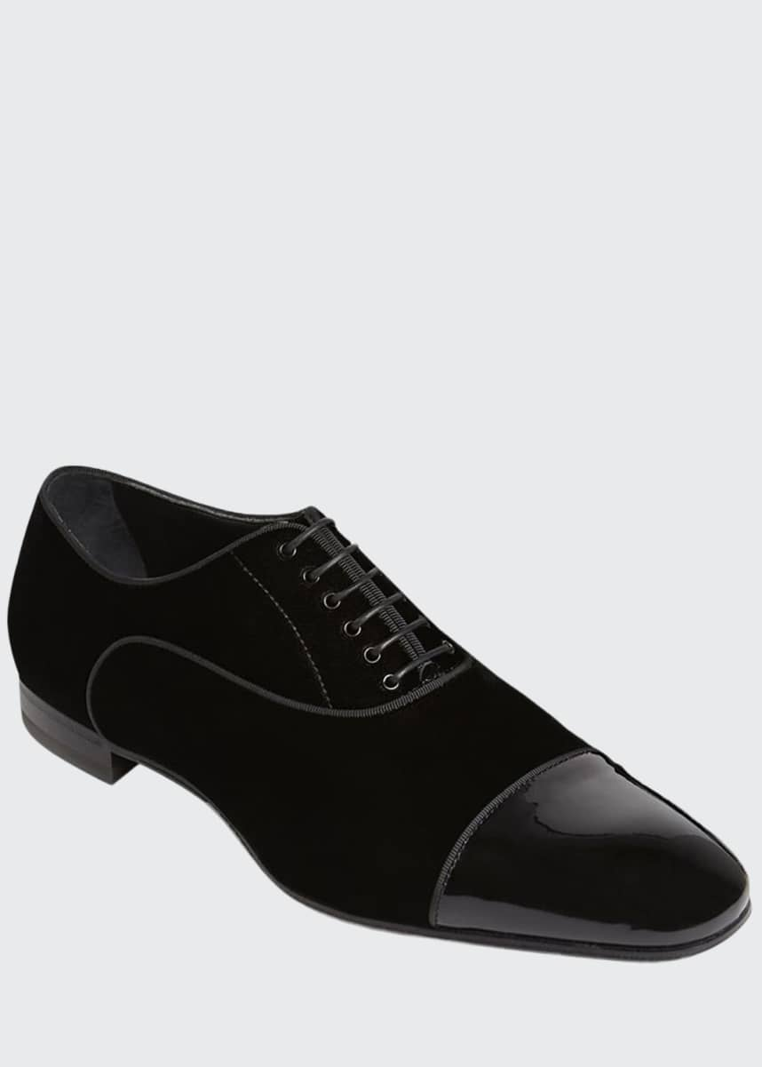 Paul Stuart Men's Hades II Cap-Toe Patent Leather Shoes