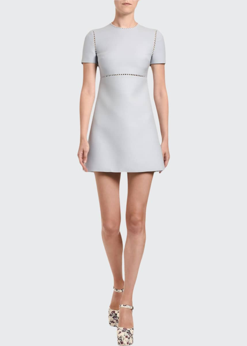 Miu Miu Jersey Pearl-Inset Mini Dress