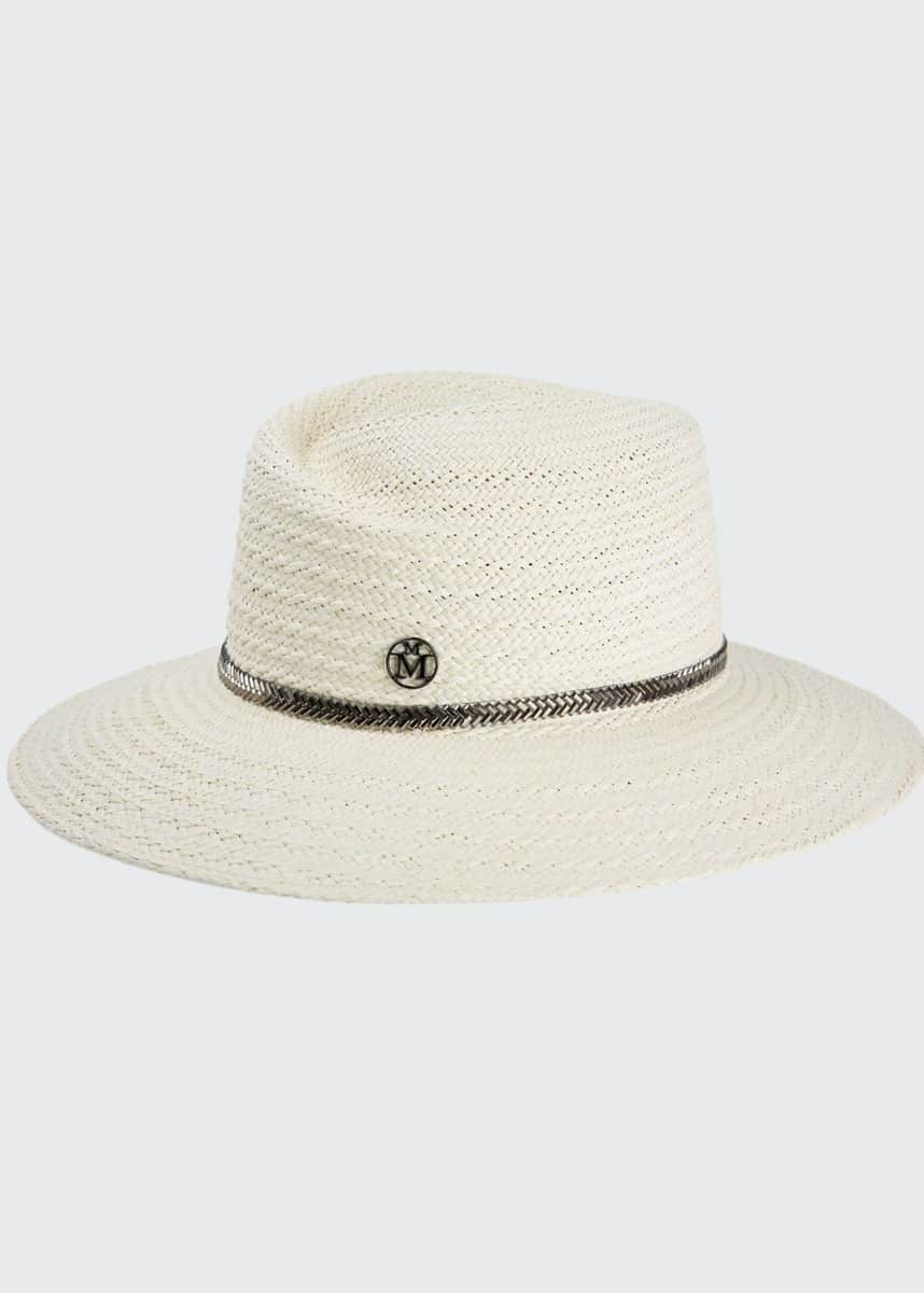 Maison Michel Virginie Herringbone Straw Hat