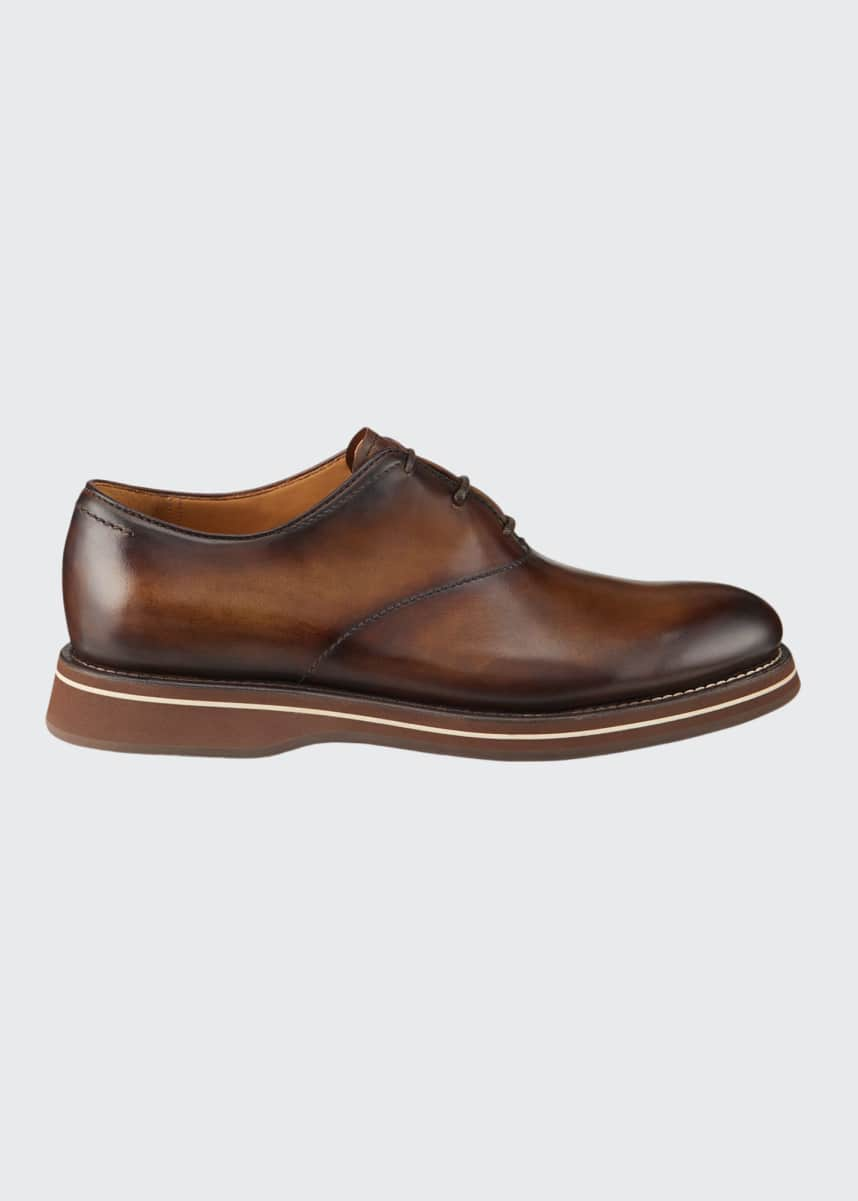 Berluti Men's Venezia Burnished Leather Oxford Shoes