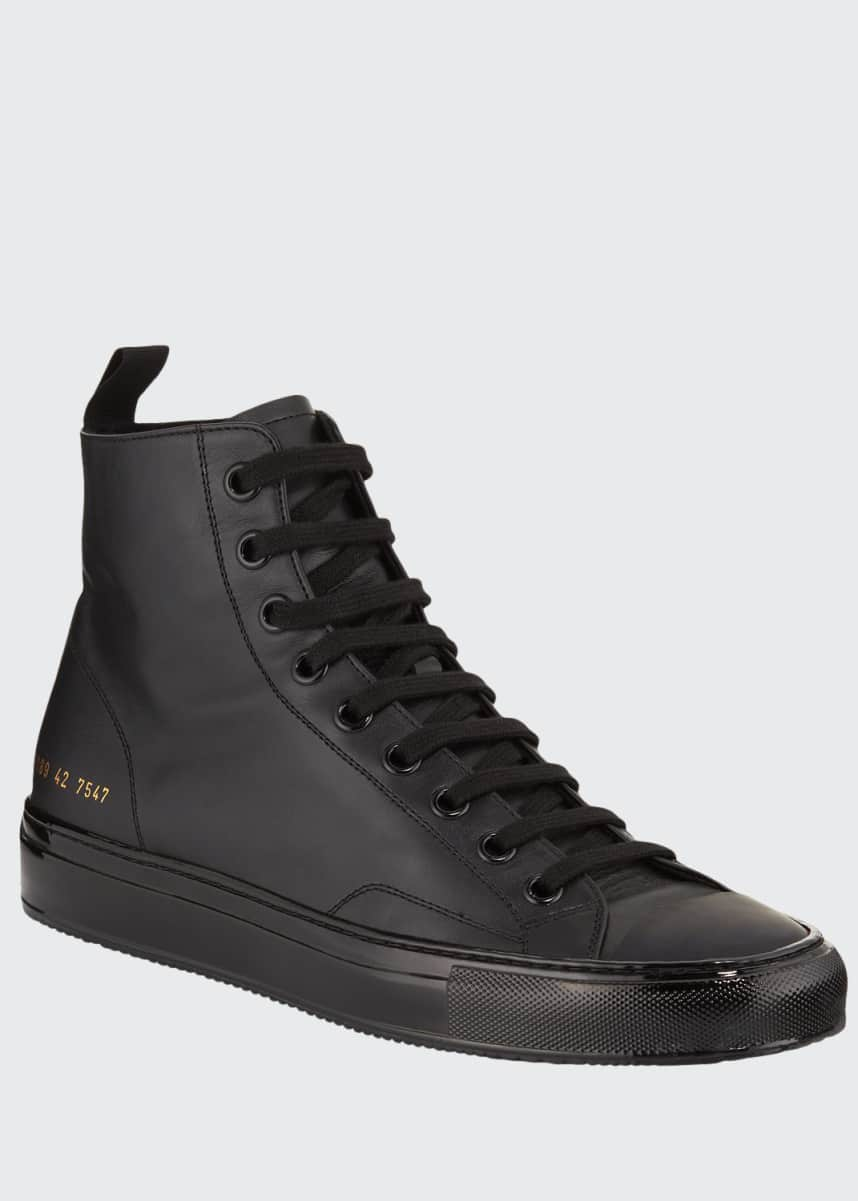 Common Projects Men's Tournament High-Top Leather Sneakers