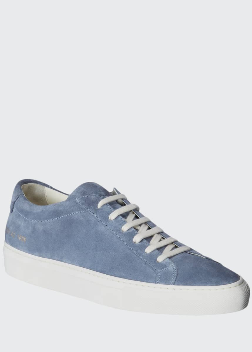 Common Projects Men's Achilles Suede Low-Top Sneakers