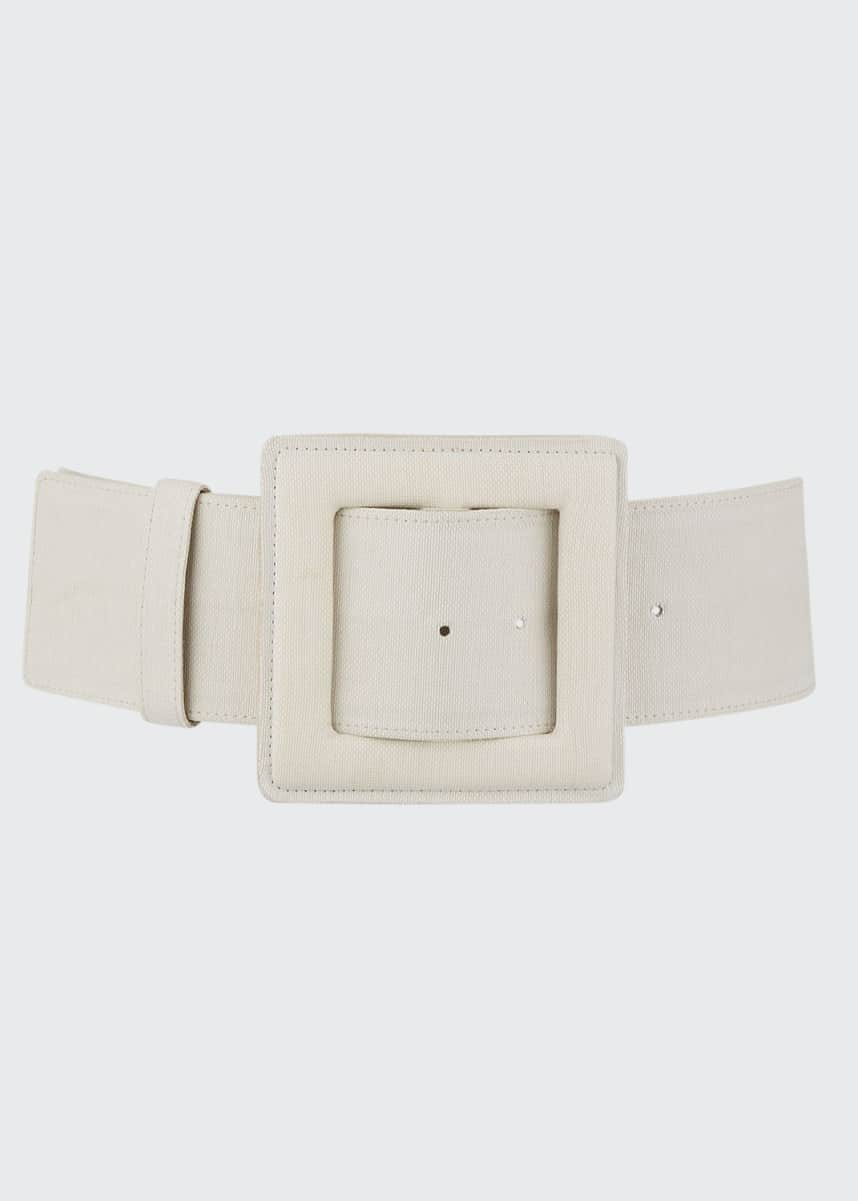 Carolina Herrera Large Square-Buckle Belt