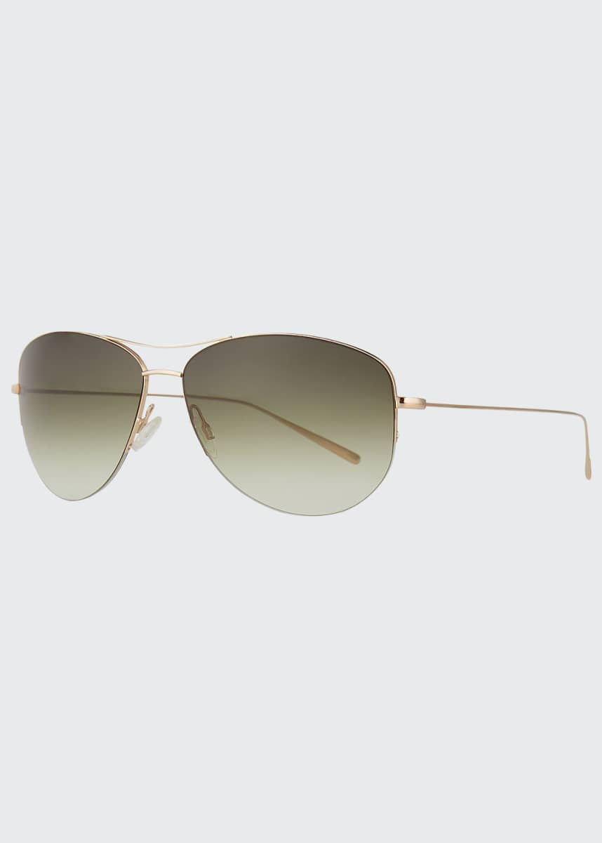 Oliver Peoples Strummer Titanium Aviator Sunglasses