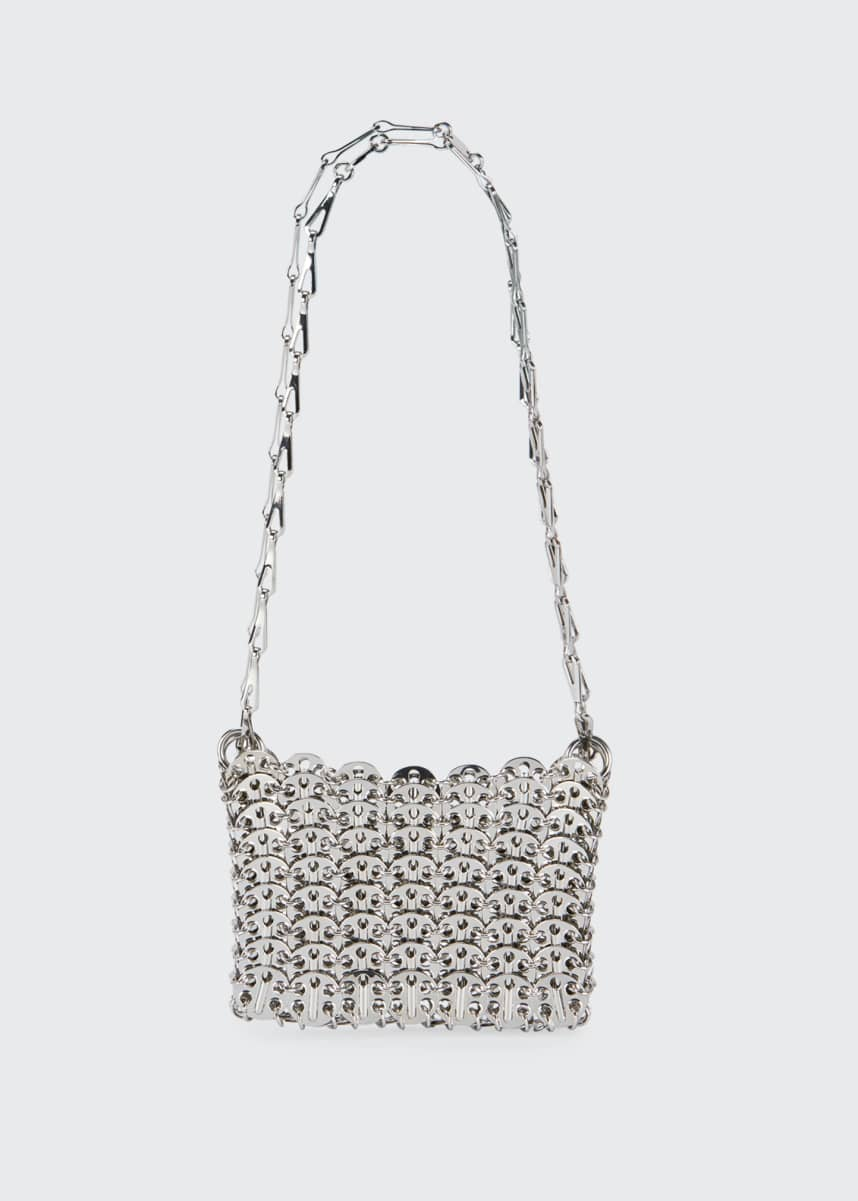 Paco Rabanne Nano 69 Metallic Disc Crossbody Bag