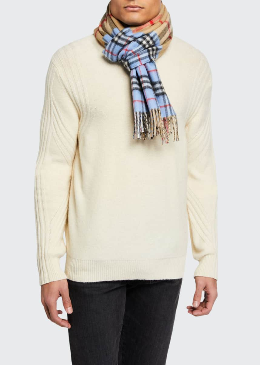 Burberry Men's Giant Check-to-Check Football Scarf