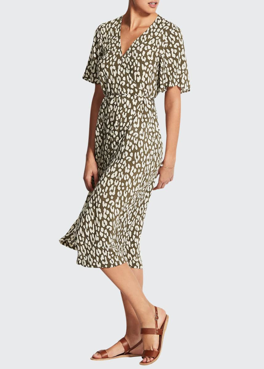 Seafolly Leopard Print Wrap Dress