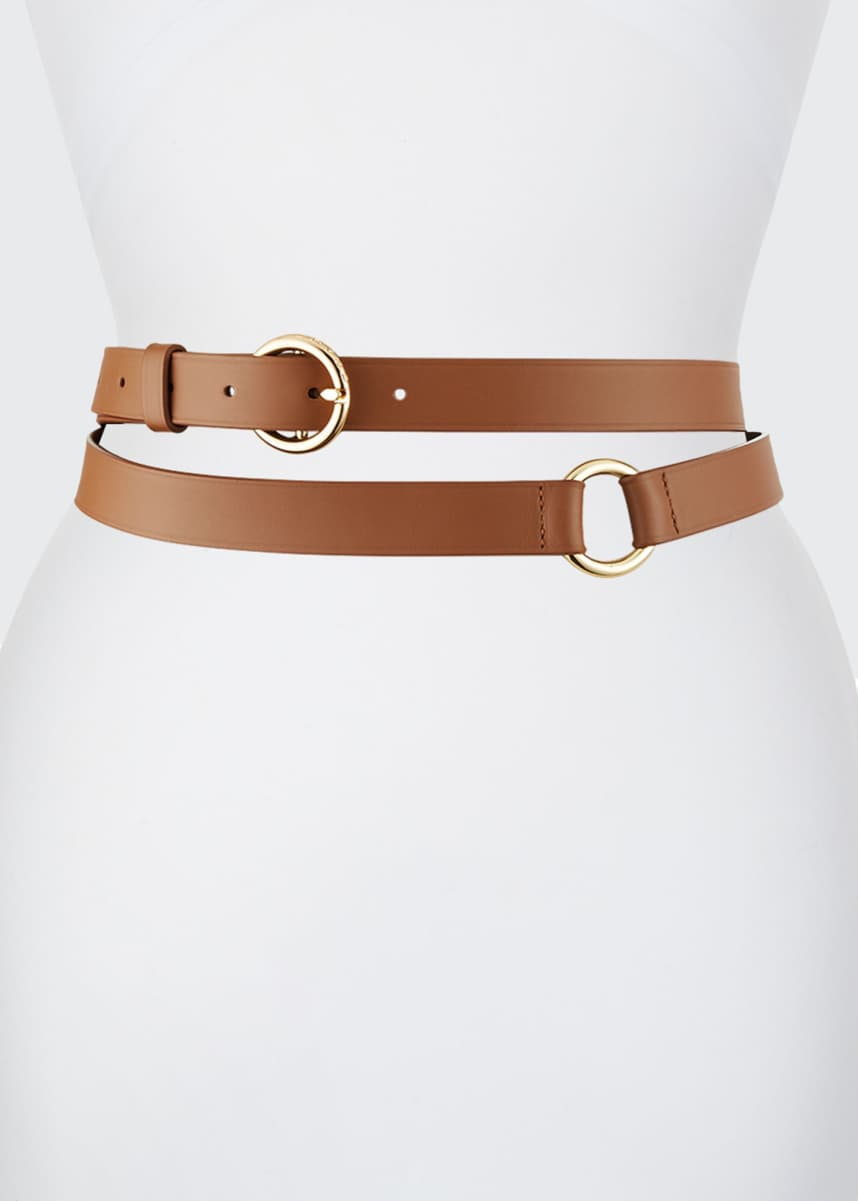 FRAME Double Wrap Leather Belt