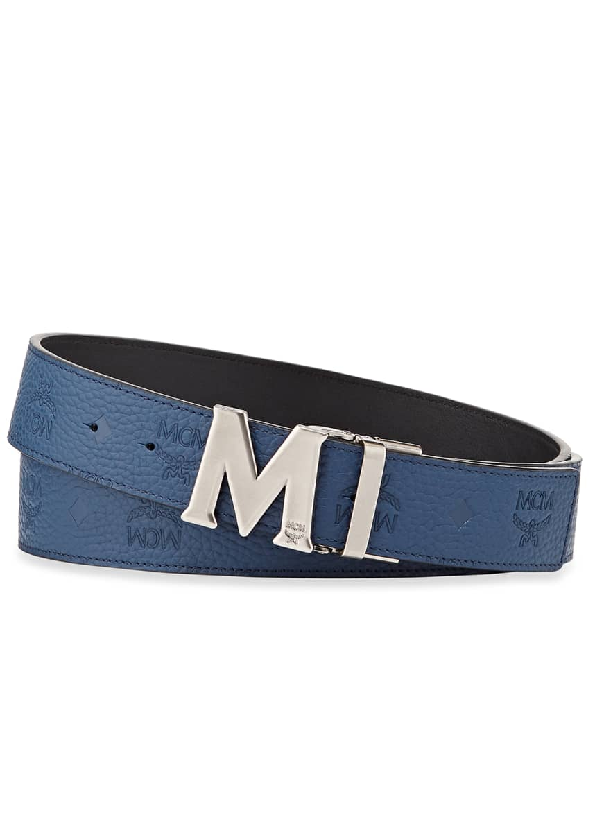 MCM Men's Claus Reversible Leather Belt