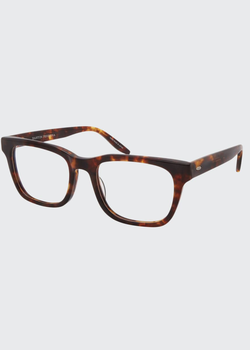 Barton Perreira Men's Weller Rectangle Tortoiseshell Optical Frames
