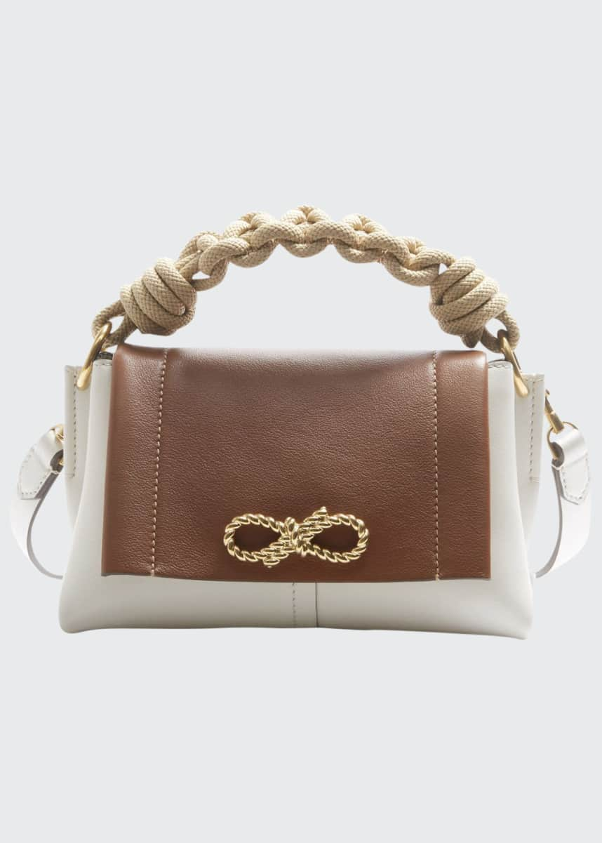 Anya Hindmarch Rope Bow Bag Mini in Soft Leather with Natural Smooth Rope