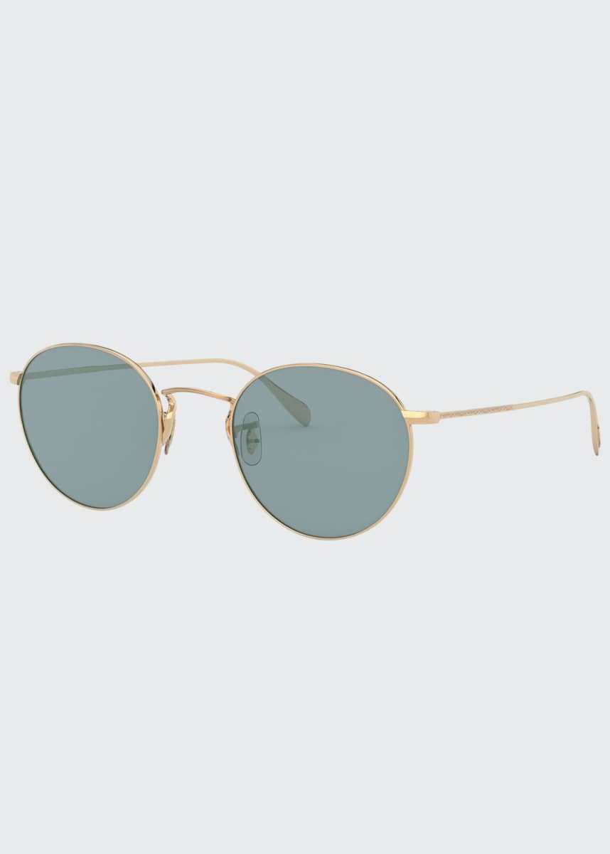 Oliver Peoples Men's Coleridge Round Metal Aviator Sunglasses