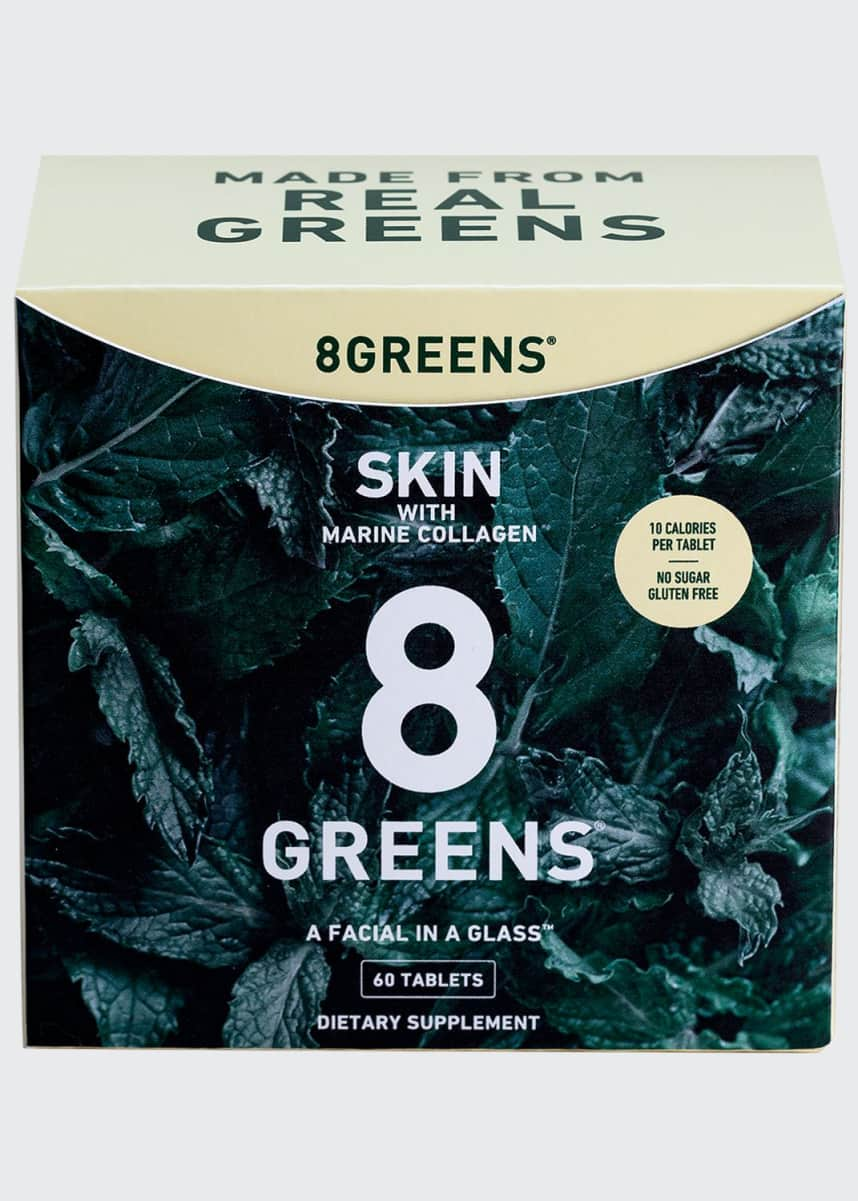 8 Greens Skin Supplement with Marine Collagen, 6 Pack