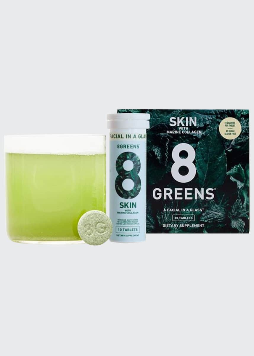 8 Greens Skin Supplement with Marine Collagen, 3 Pack