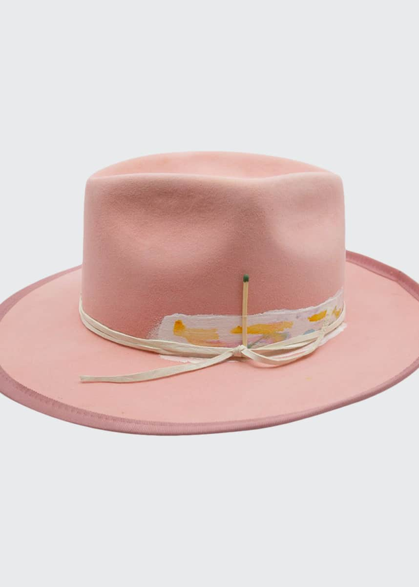 Nick Fouquet Babe Rainbow Painted Fedora Hat
