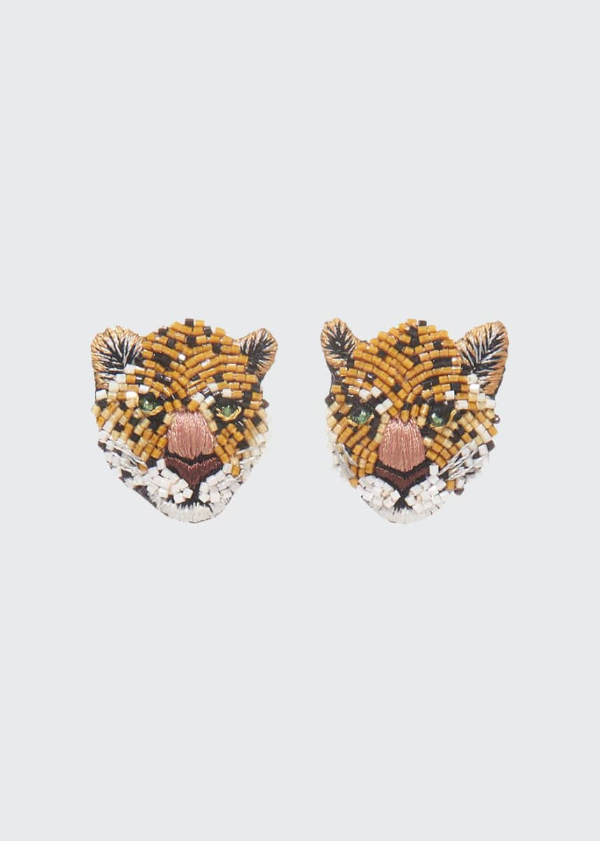 Mignonne Gavigan Leopard Stud Earrings