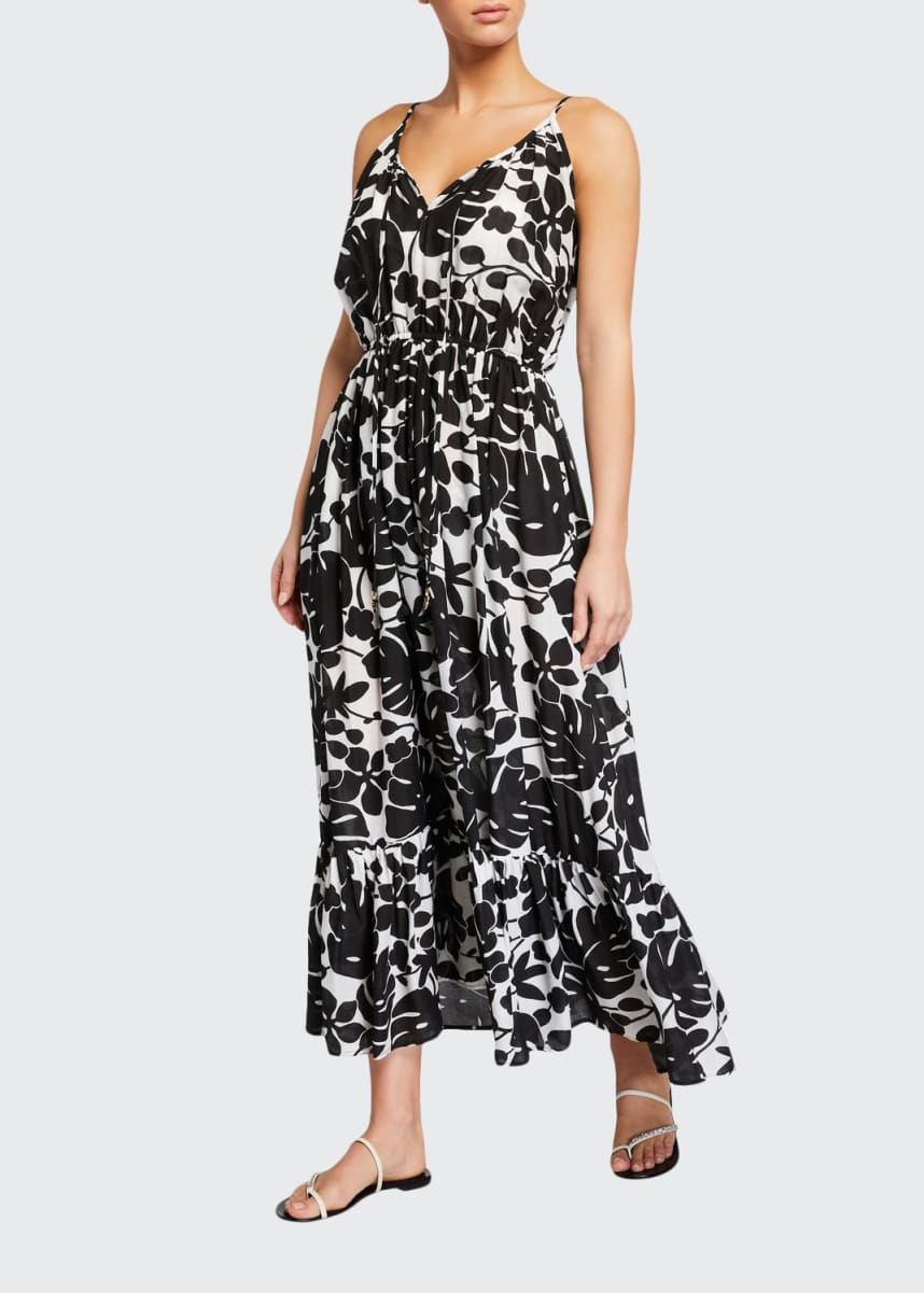 kate spade new york palm coverup maxi dress