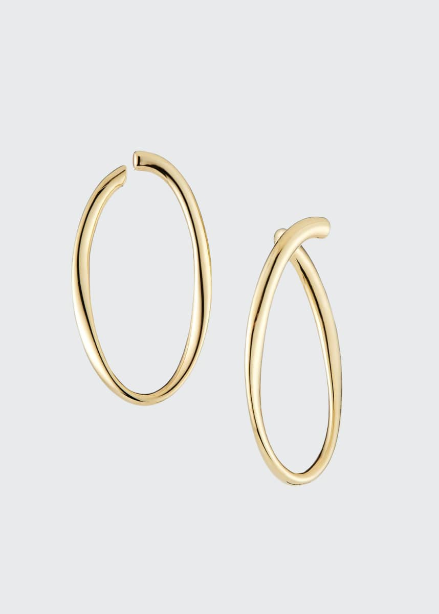 Lana Uptown Thin Graduating Crescent Hoop Earrings