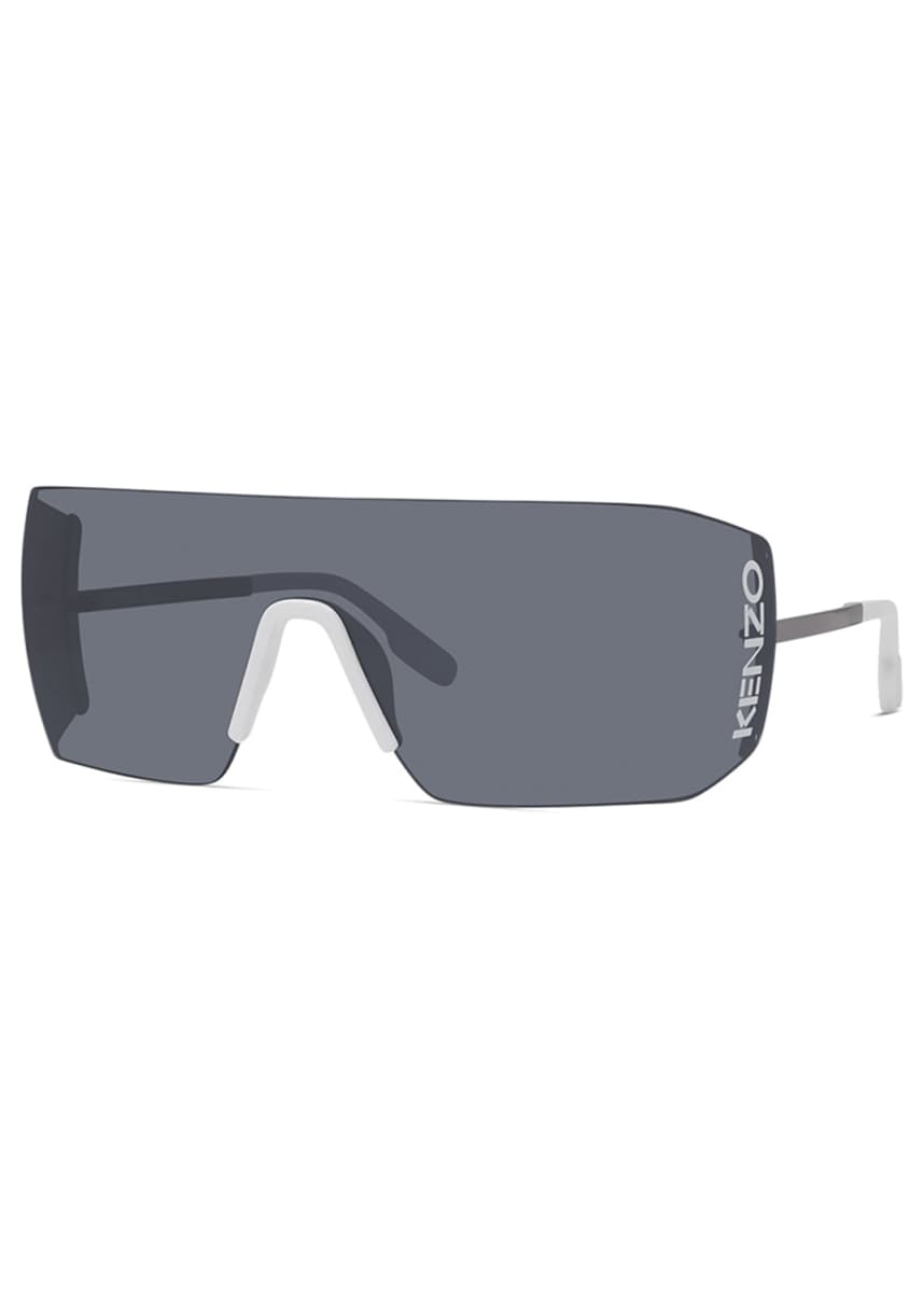 Kenzo Men's Rimless Shield Logo Sunglasses