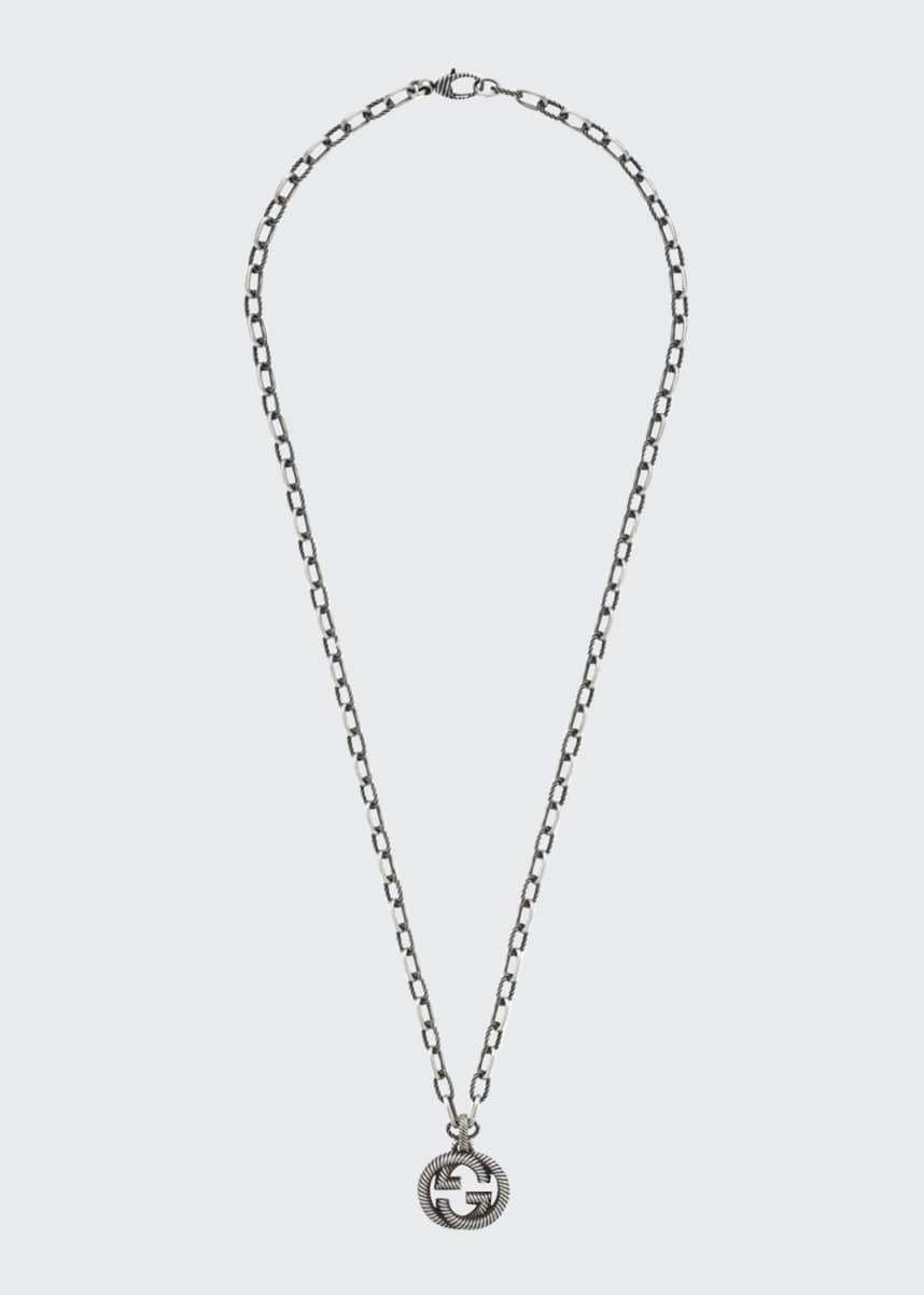 Gucci Men's Interlocking G Pendant Necklace