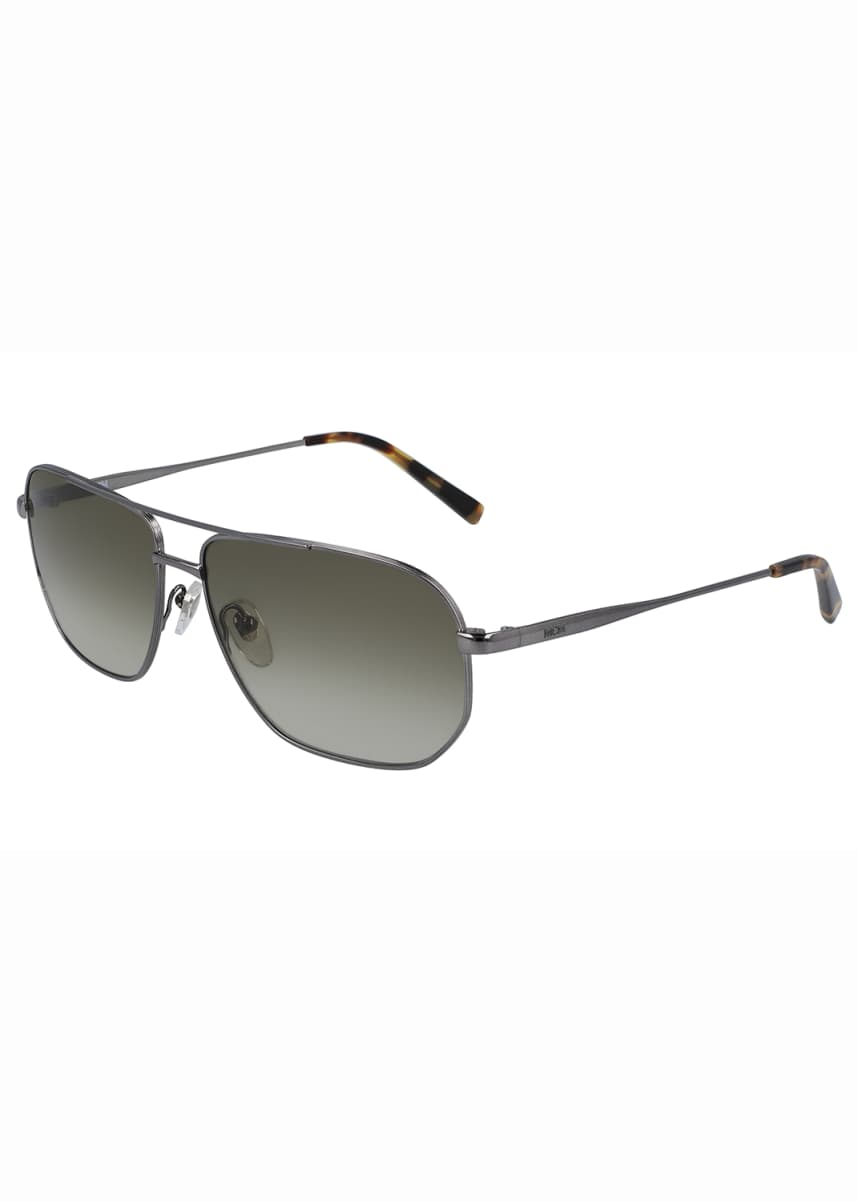 MCM Men's Simple Logo Gradient Navigator Sunglasses