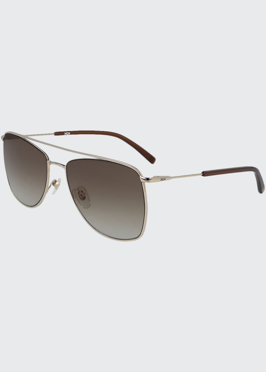 MCM Men's Outline Gradient Metal Navigator Sunglasses