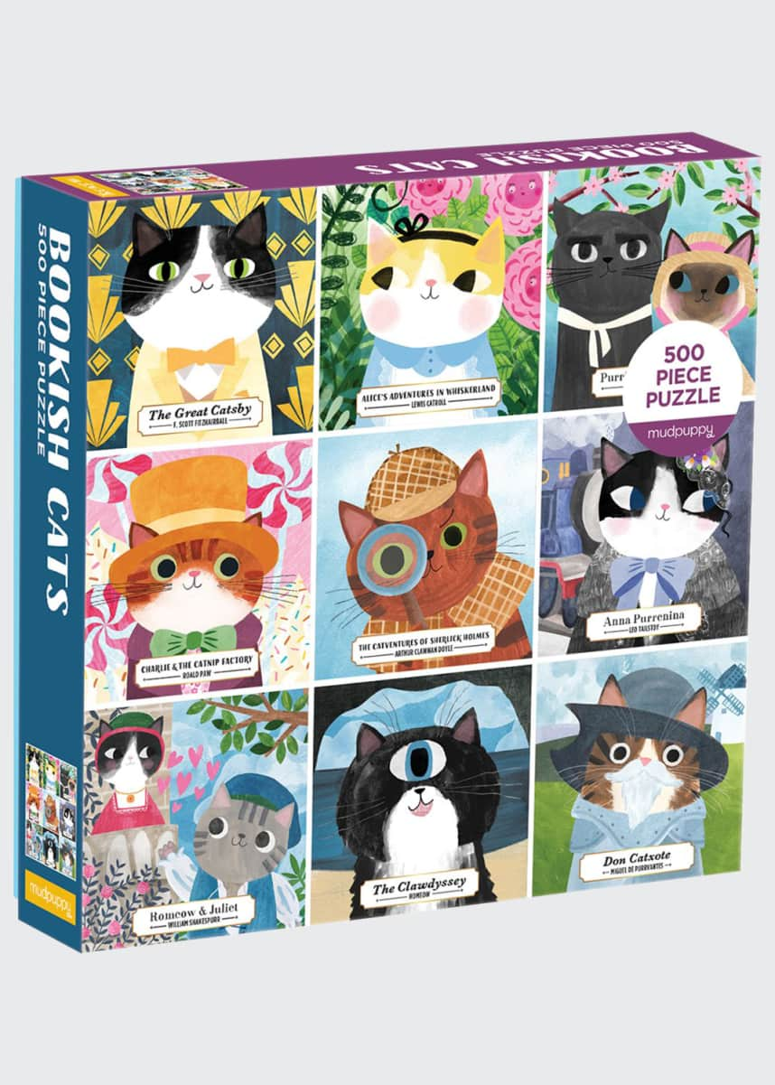 Chronicle Books Bookish Cats 500 Piece Puzzle