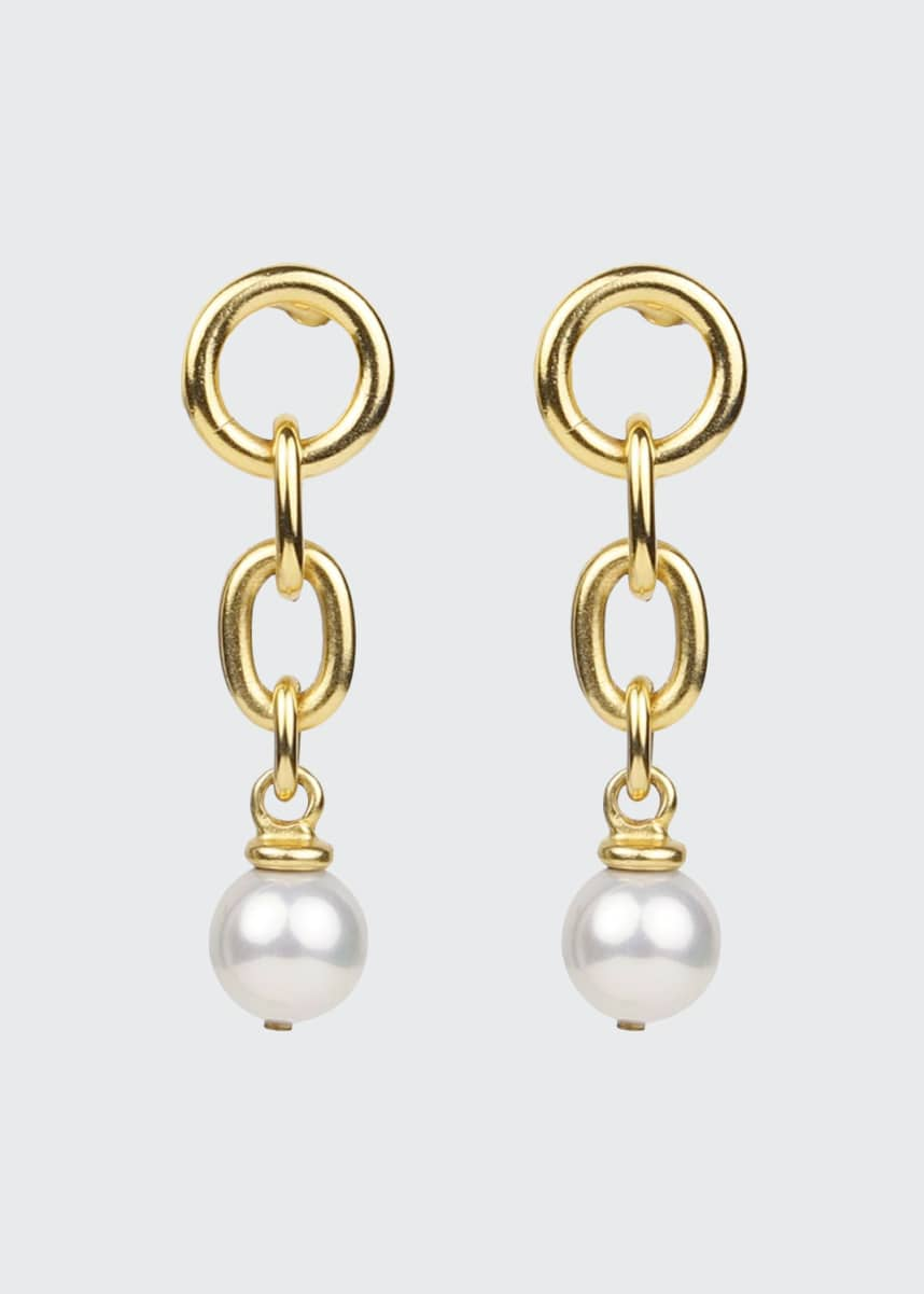 Ben-Amun Pearly Drop Link Earrings