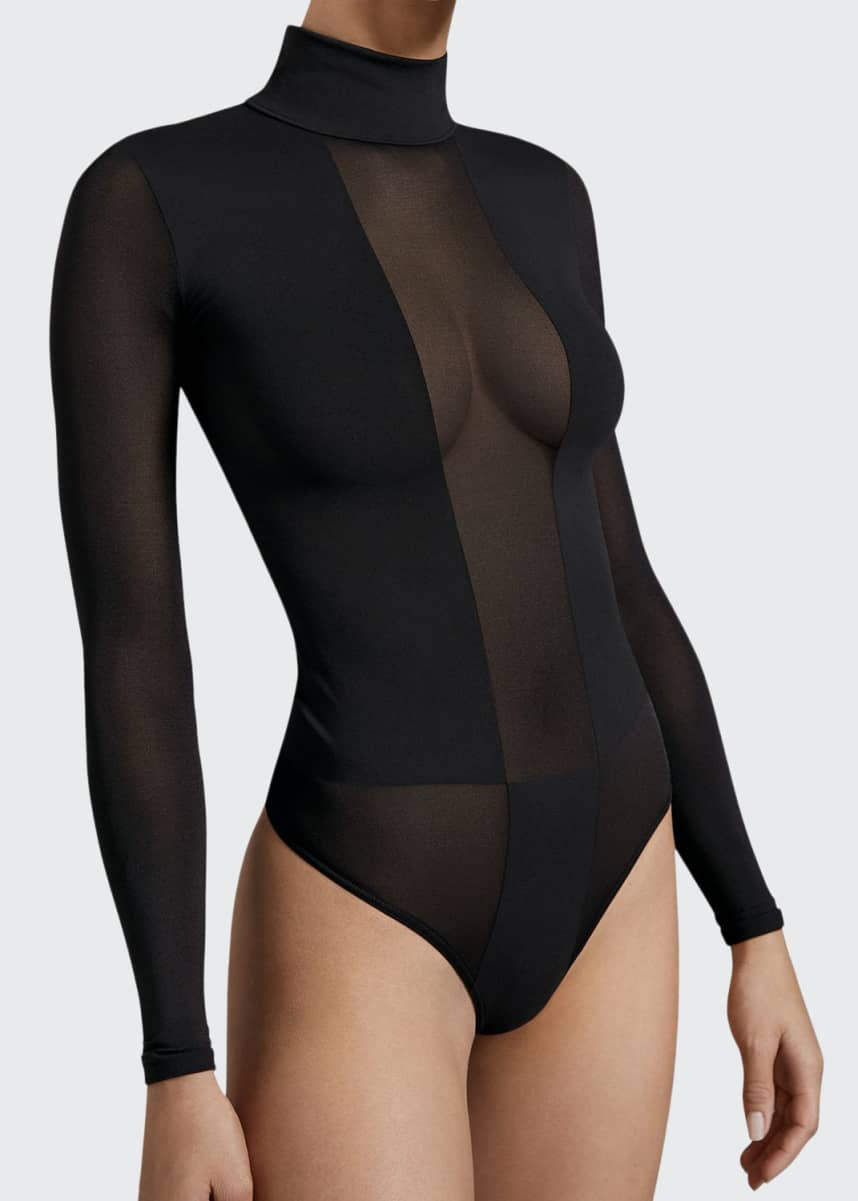 Wolford Dione Long Sleeve String Bodysuit