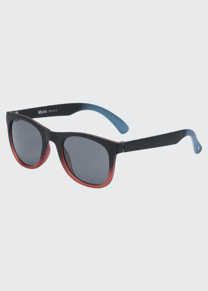 Molo Boy's Smile Rectangle Sunglasses