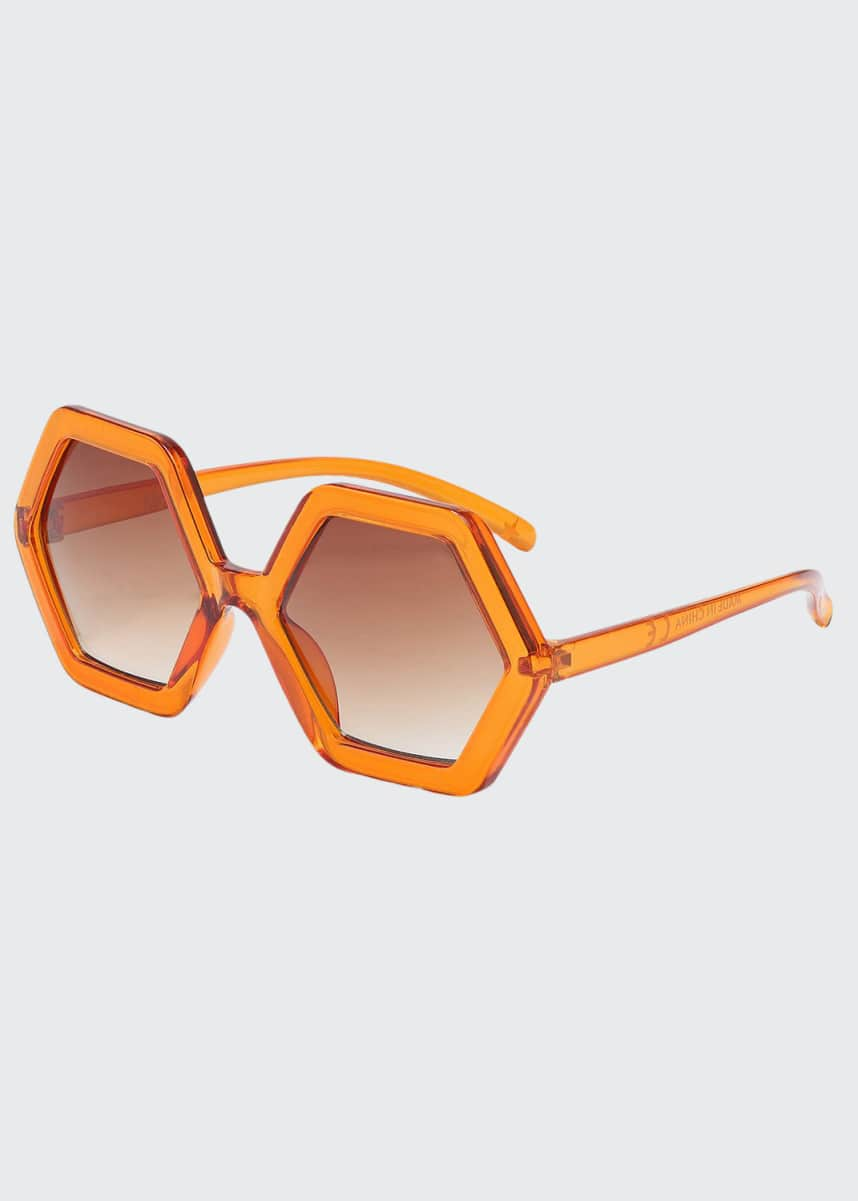 Molo Girl's Skyla Gradient Hexagonal Sunglasses