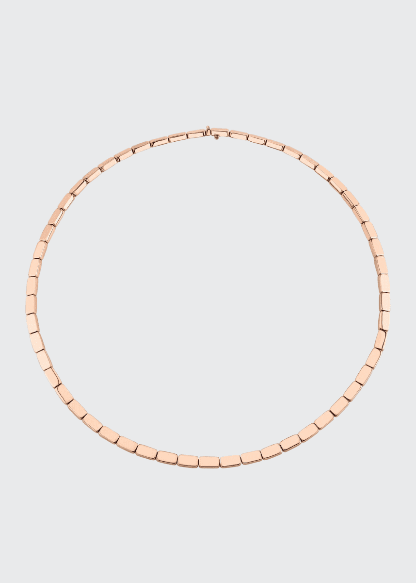 Anita Ko 18k Rose Gold Bunny Link Choker Necklace