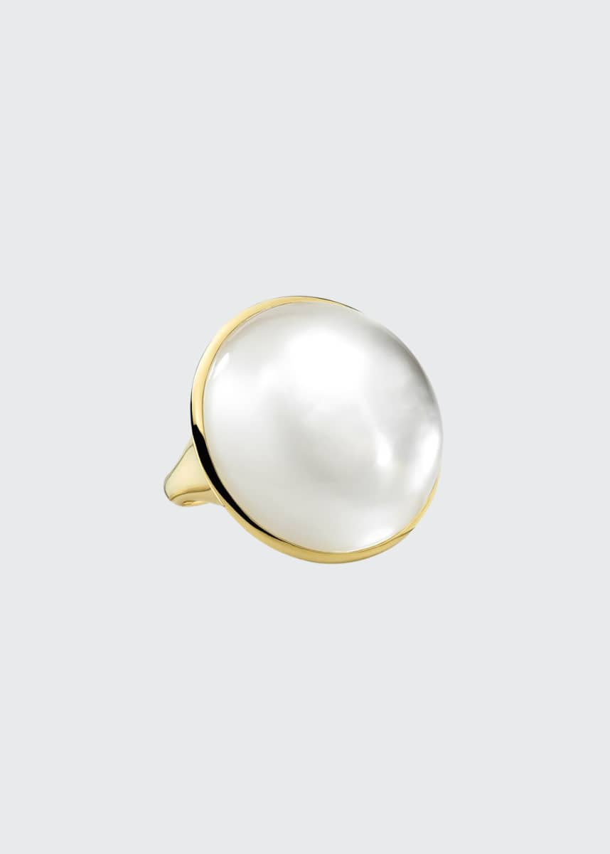 Ippolita 18K Rock Candy Luce Large Oval Mother-of-Pearl Ring, Size 7