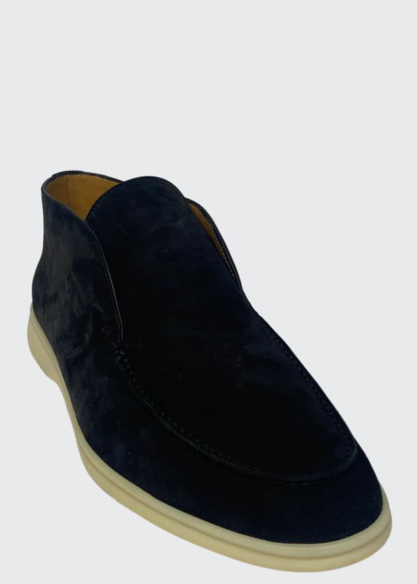 Loro Piana Men's Open Walk Suede Chukka Boot