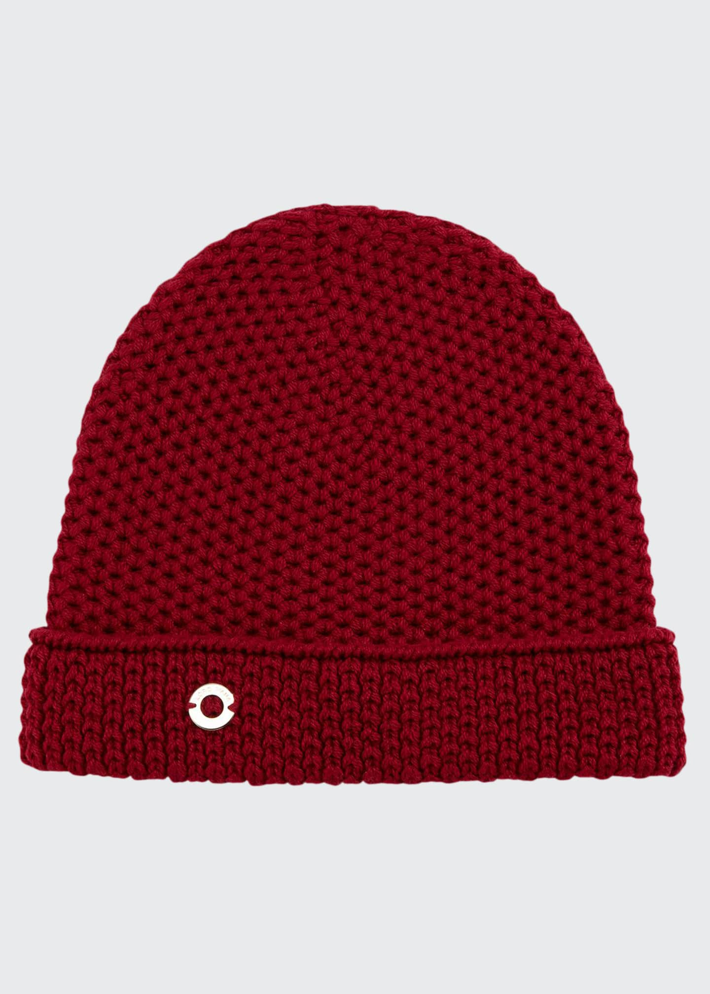 Image 1 of 1: Rougement Chain-Knit Cashmere Beanie Hat