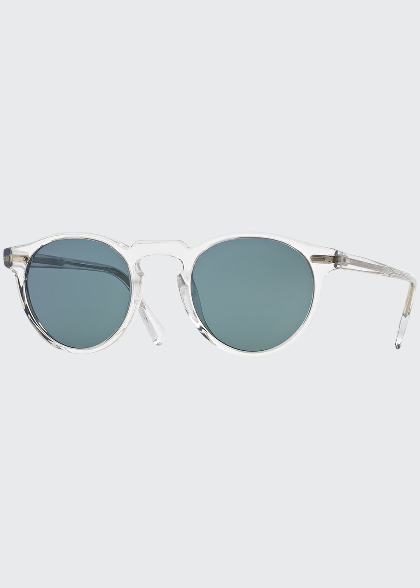 Image 1 of 2: Gregory Peck Round Acetate Sunglasses