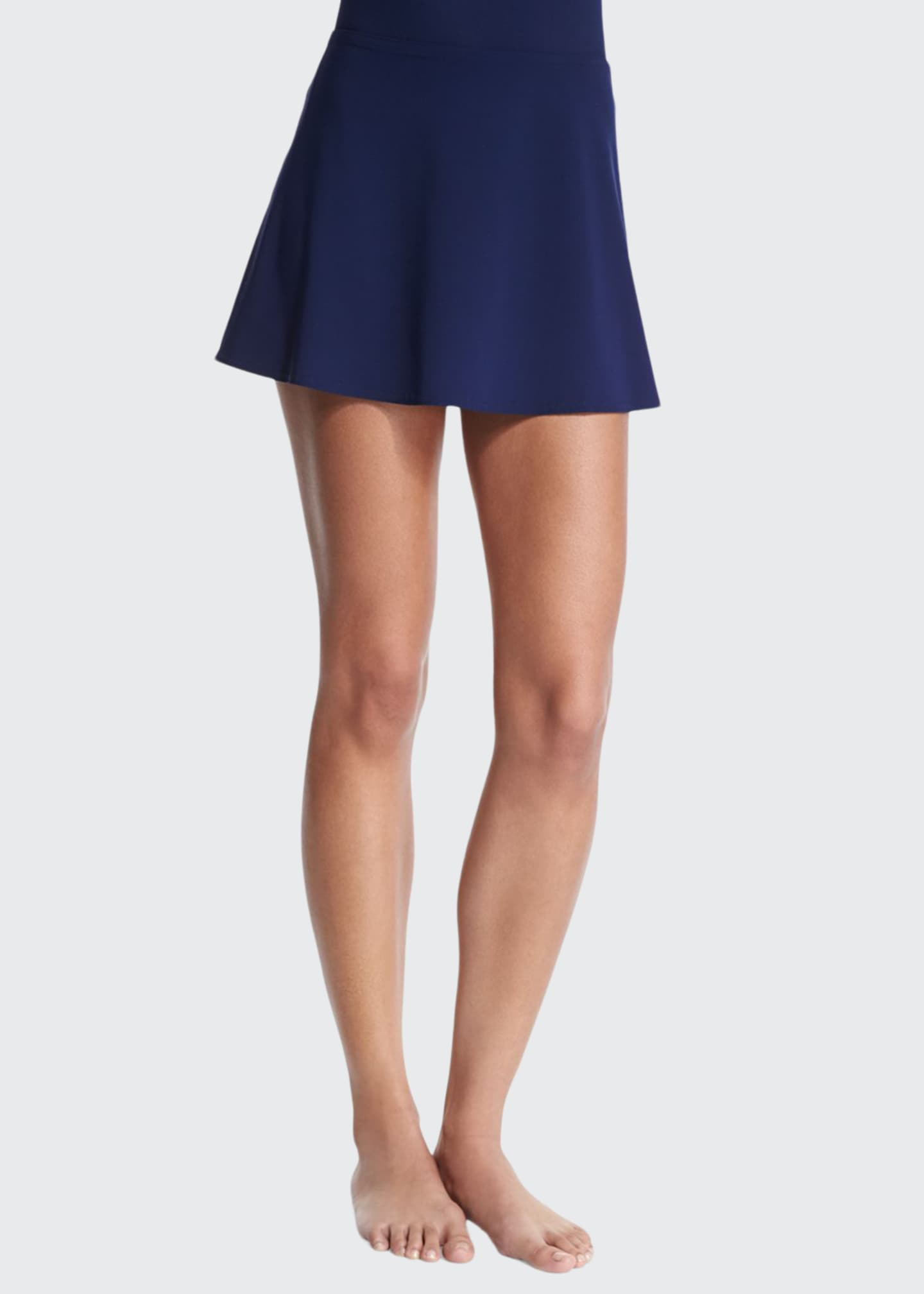 Image 1 of 2: Flared Swim Skirt, Navy