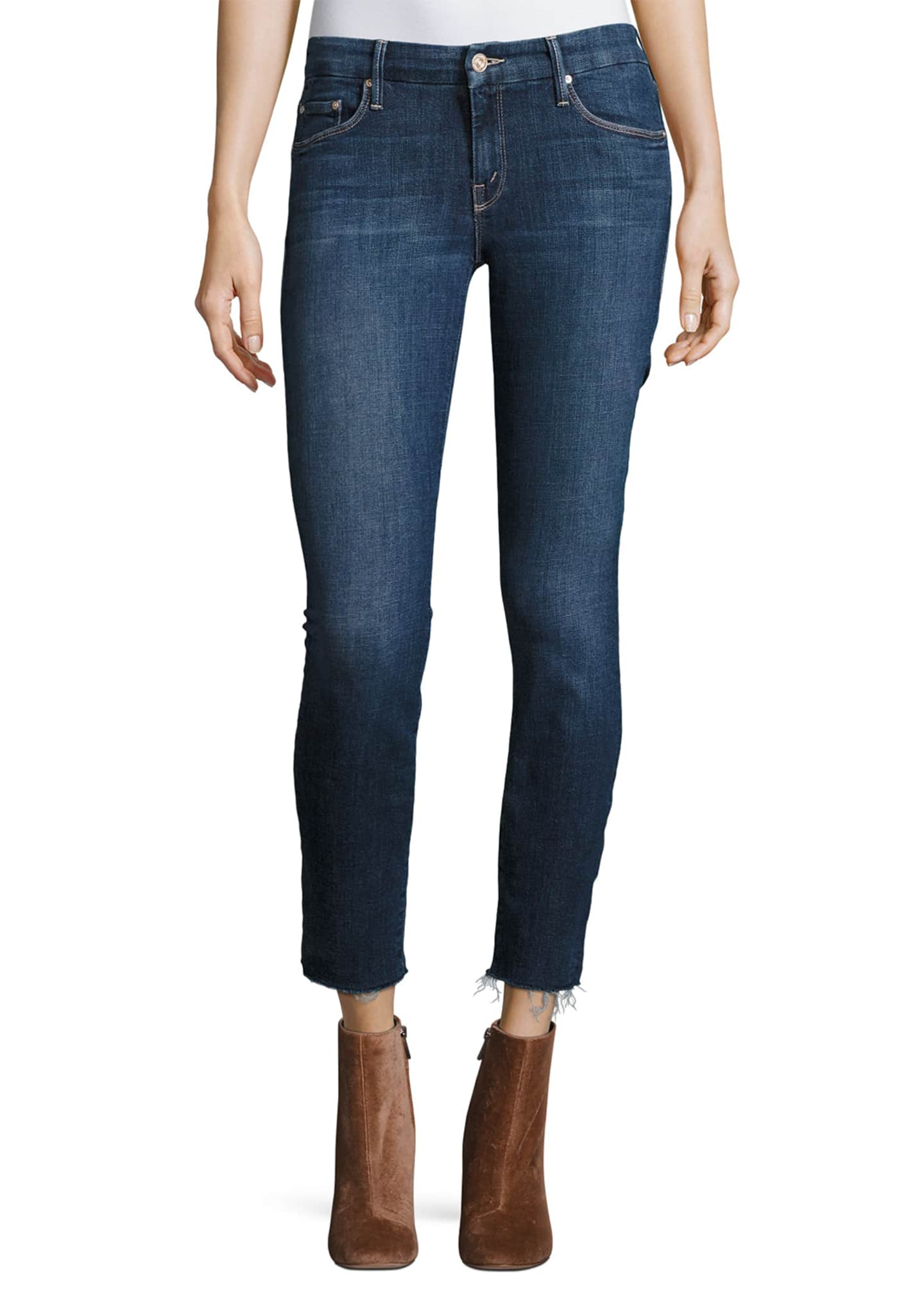 Image 1 of 3: The Looker Ankle Fray Girl-Crush Denim Jeans